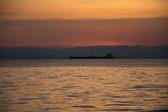 船和阳光 库存照片
