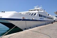 船在克罗地亚 杜布罗夫尼克市 免版税库存图片