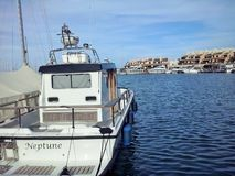 船在圣特罗佩 库存图片