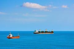 货船在安克雷奇 免版税库存图片