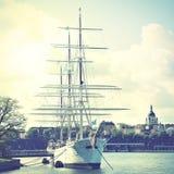 船在斯德哥尔摩 库存图片