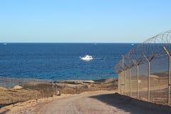 船在海洋 免版税库存图片