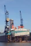 船在船坞 免版税库存照片