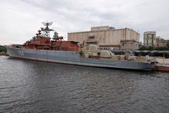 船在莫斯科 库存图片