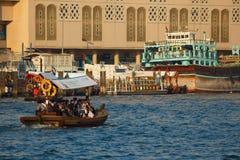 船在萨伊德在迪拜,阿拉伯联合酋长国 库存照片