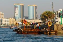 船在萨伊德在迪拜,阿拉伯联合酋长国 库存图片
