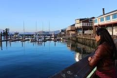 船坞和小船 库存图片