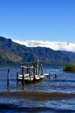 船坞和湖视图-尼加拉瓜 图库摄影