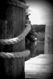 船坞和绳索 库存照片