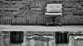 船坞椅子 免版税库存照片