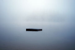 船坞消失入雾 库存图片