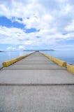 从船坞的海岛视图 库存图片