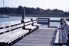 船坞边 库存图片