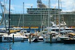 船小游艇船坞,圣托马斯,美国维尔京群岛 免版税图库摄影