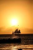 船小船航行 免版税图库摄影