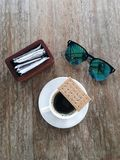 船尾咖啡 库存照片