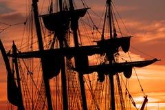 船帆柱和索具 免版税图库摄影