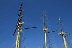 船帆柱 免版税库存照片