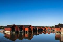 船库在海边 免版税图库摄影