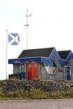 船库阿默兰岛Ballum,阿默兰岛,荷兰 库存图片