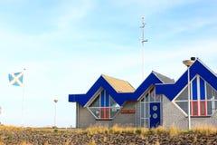 船库阿默兰岛Ballum KNRM,阿默兰岛,荷兰 免版税库存照片