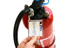 船或船消防设施 检查和维护 免版税库存照片