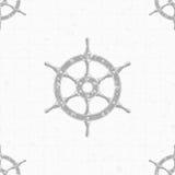 船方向盘背景 免版税图库摄影