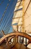 船方向盘 免版税图库摄影