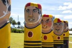 系船柱在Gellong,澳大利亚 免版税库存照片