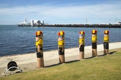 系船柱在Gellong,澳大利亚 库存照片