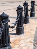 系船柱铸铁黑色 图库摄影