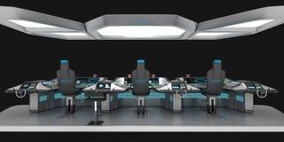 船模件设备 多用途控制板大型船 上尉` s桥梁的基础 向量例证
