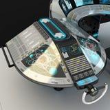 船模件设备 多用途控制板大型船 上尉` s桥梁的基础 皇族释放例证