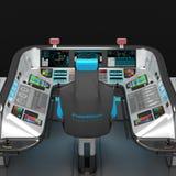 船模件设备 多用途控制板大型船 上尉` s桥梁的基础 库存例证