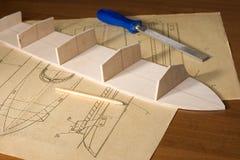 船比例模型建筑 免版税图库摄影