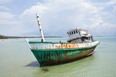 船浪费 免版税库存照片