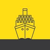 船海巡航划线员 免版税库存照片