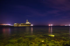 船由土耳其队投掷 库存图片