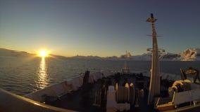 从船的南极洲 股票视频