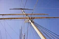 船的帆柱 图库摄影