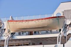 货船的救生艇 免版税库存照片
