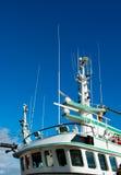 船的桥梁和航海仪器 图库摄影