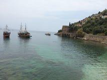 船的港口在石堡垒 免版税库存照片