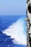 从船的甲板的照片 库存照片