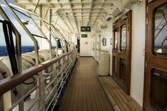 船的甲板 免版税库存图片