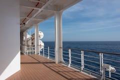 船的甲板 免版税图库摄影