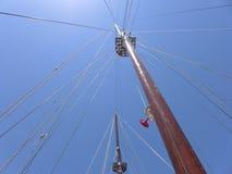 从船的看法天空 图库摄影