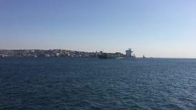 船的短片在伊斯坦布尔bosphorus的 股票视频