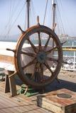 船的舵 免版税库存照片