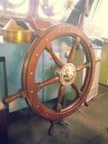 船的船舵 免版税图库摄影